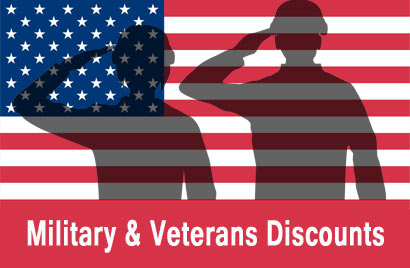 Active Military & Veterans Discounts